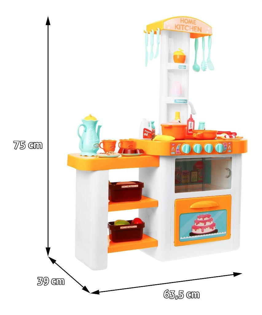 Большая Детская Кухня. 55 предметов. Из крана течет вода. свет. Звук 889-63-64