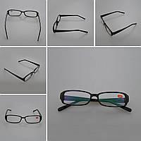Очки для чтения -5.50 в черной оправе