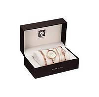 ✅ Наручные женсккие часы с браслетами, Золото, стильные в подарочной упаковке, с доставкой по Украине