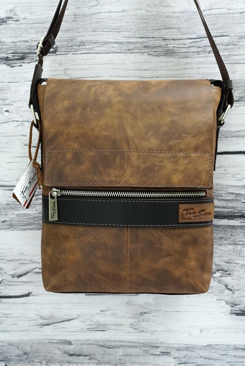 373858d9cb39 Винтажная сумка из натуральной кожи Tom Stone 519 рыжая: продажа ...