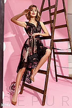 Асимметричное кружевное платье