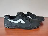 Чоловічі кросівки львівські чорні (код 184), фото 1