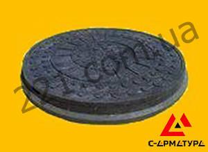 Люк канализационный полимерпесчаный легкий черный до 1тонн