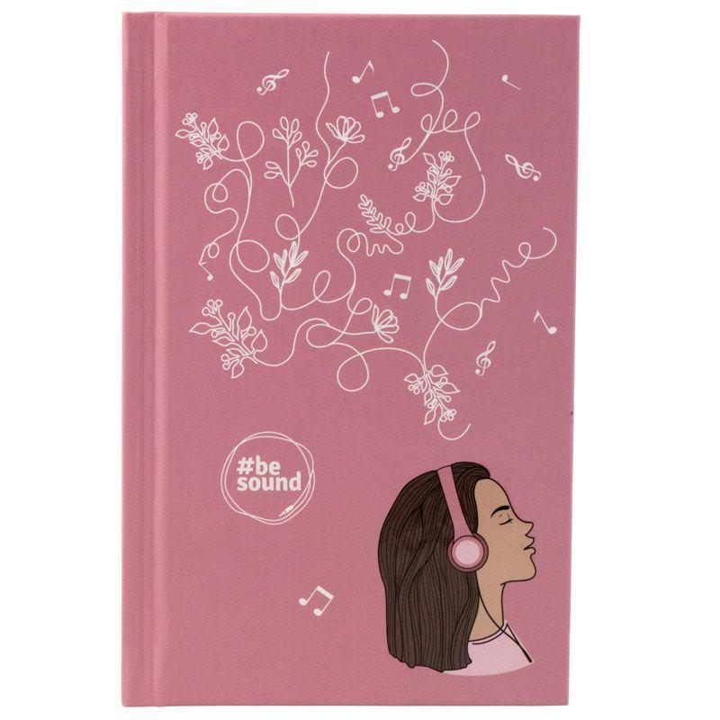 Книга записная KITE BeSound-6 K19-199-6 твердая обложка А6, 80 листов, клетка