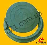 Люк канализационный полимерпесчаный зеленый до 5 тонн
