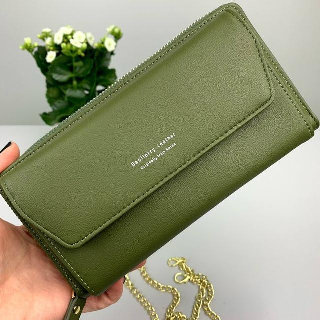 женский зеленый клатч