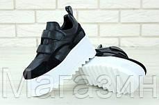 Женские кроссовки на платформе Stella McCartney Eclypse Platform Sneakers Стелла МакКартни на липучке черные, фото 3