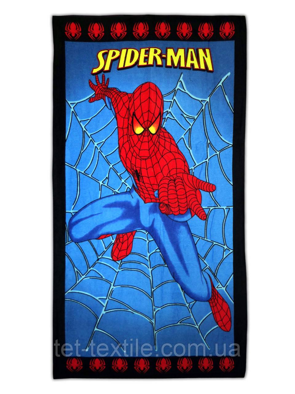 """Пляжное полотенце """"Человек паук"""" 70х140см."""