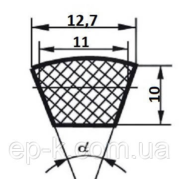 Ремень клиновой  SPA-1125