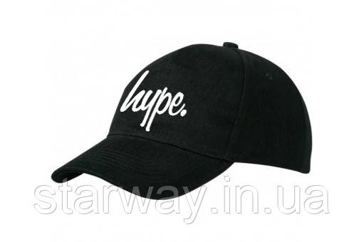 Кепка бейсболка черная | Hype логотип принт