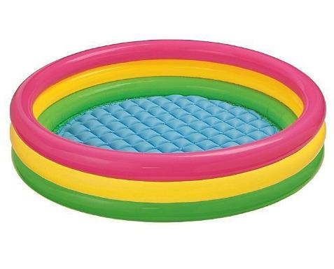 Круглый детский надувной бассейн.Детские товары для плавания в бассейне.