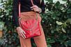 Женская сумка кожаная 41 красный флотар 01410107, фото 2
