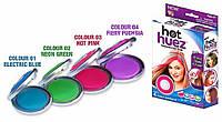 Цветные мелки для волос Hot Huez (Хот Хьюз) 4 цвета, цветная пудра для покраски волос, Пристрої для волосся і аксесуари, Устройства для волос и