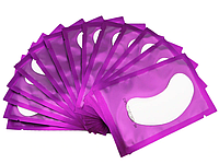Патчи под глаза на гидрогеле для ламинирования и наращивания ресниц, в фиолетовой упаковке