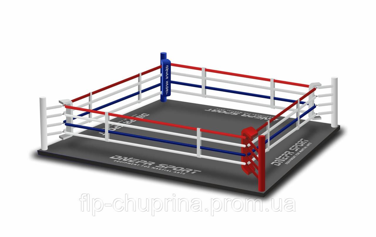 Боксерский ринг 7,8*7,8м, канаты 6,1*6,1м.