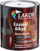 Эмаль алкидная для пола ПФ-266-К Lakor желто-коричневый глянец 2,8кг
