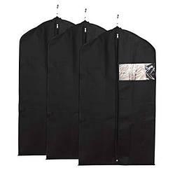 Чехлы для хранения и упаковки одежды флизелиновые черного цвета