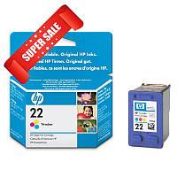 Картридж HP 22 C9352AE для принтера DeskJet 3920, 3940, D1360, D1460, D2360, D2400, D2460, F2180, F2187, F380, F4172, F4180, F4190, OfficeJet 4315,