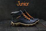 Подростковые ботинки кожаные зимние синие Twics К2, фото 2