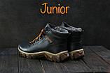 Подростковые ботинки кожаные зимние синие Twics К2, фото 3