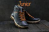 Подростковые ботинки кожаные зимние синие Twics К2, фото 4