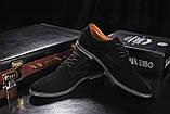 Мужские туфли замшевые весна/осень черные на шнурках Yuves М5 (Trade Mark), фото 7