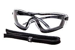Очки защитные Bolle Cobra с прозрачными линзами и ремешком