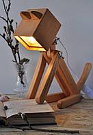 Лампа настольная из дерева