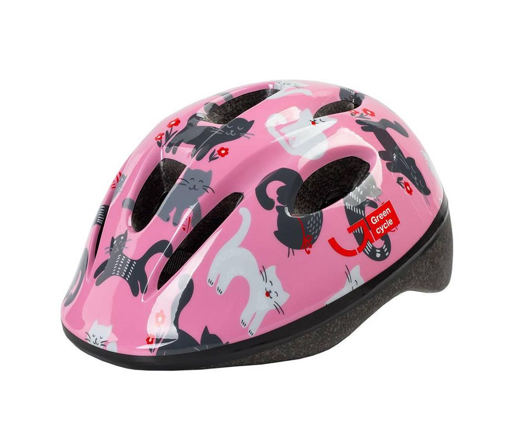 Шолом дитячий Green Cycle Kitty 50-54 Pink, фото 2