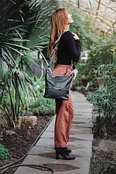 Женская сумка кожаная 42 черный флотар 01420101