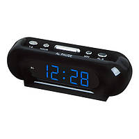 Настольные электронные часы VST-716-5 электронные, синие цифры