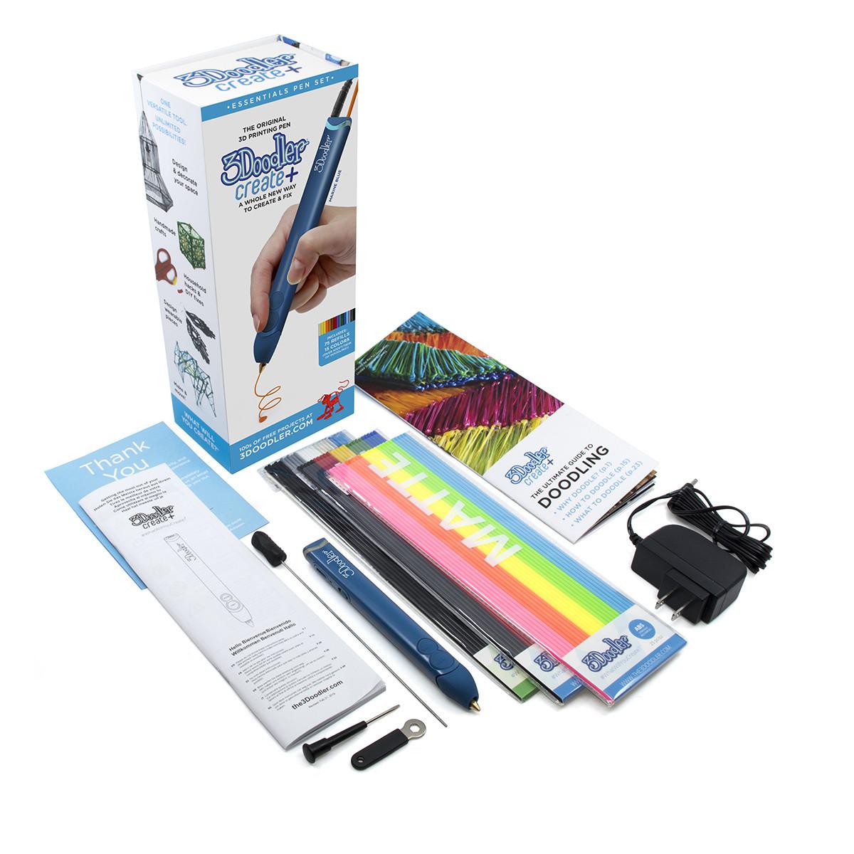3D-ручка 3Doodler Create Plus для профессионального использования - Синяя (8CPSBEEU3E)