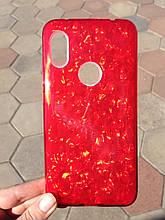 Чехол для Xiaomi Redmi Note 6 Red Broken Glass