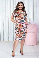 Модное женское легкое платье,размеры:50,52,54,56., фото 1