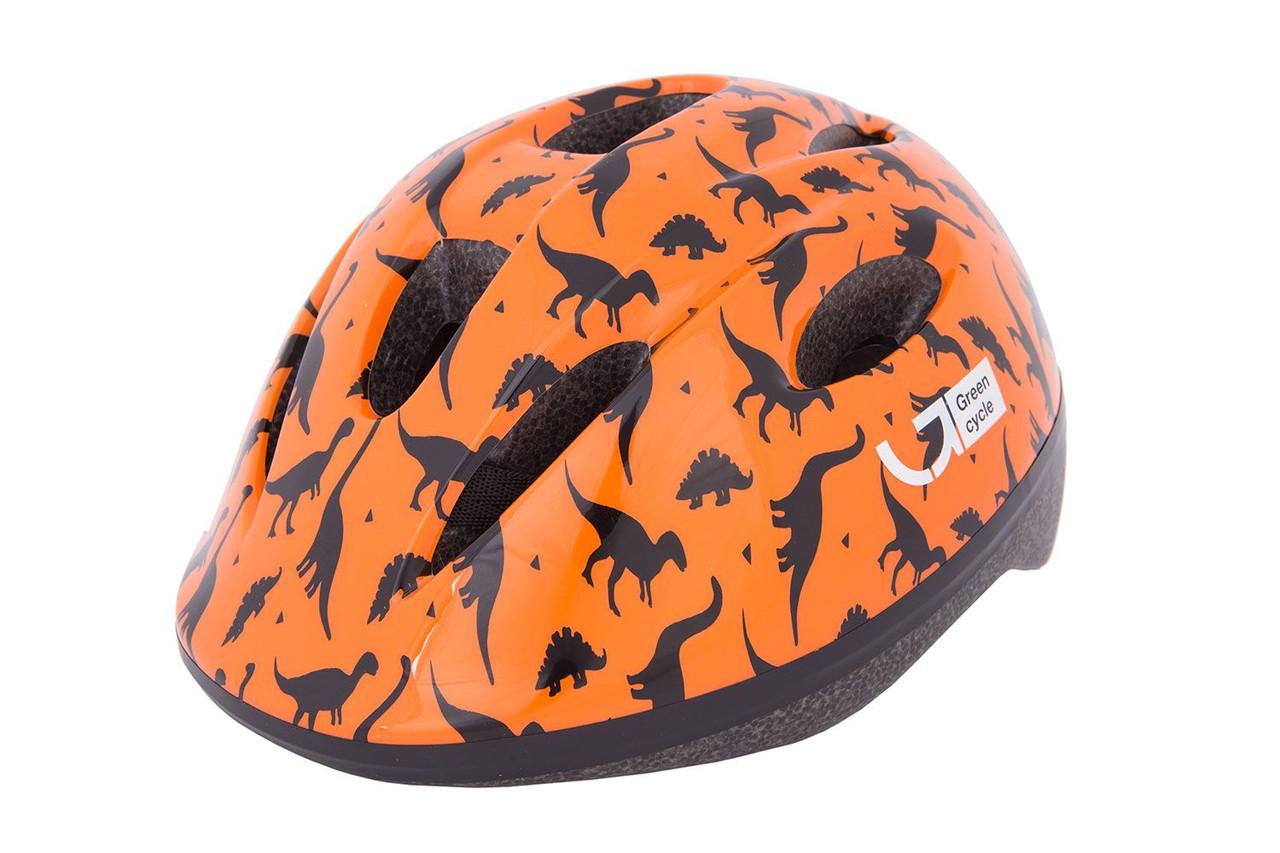 Шолом дитячий Green Cycle Dino 48-52 Orange black