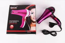 Фен професійний для волосся GEMEI GM 1704 4 швидкості турмалиновая технологія
