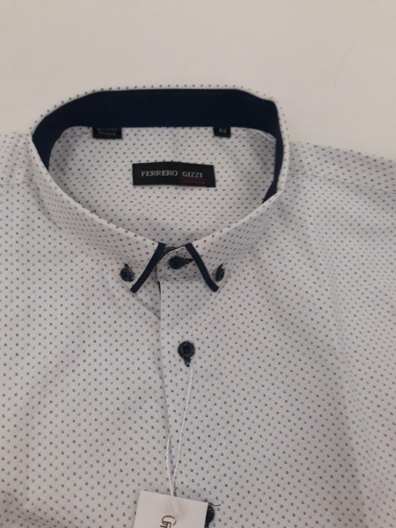 Рубашка мужская Ferrero Gizzi стрейч-коттон SKY 2174BK