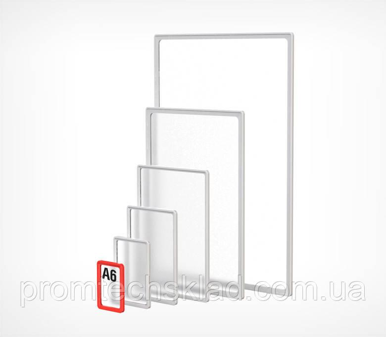PF - A6 Рамка стандартна пластикова з закругленими кутами Прозорий