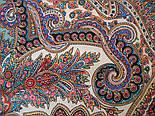 Волшебный узор 1290-3, павлопосадский платок (шаль) из уплотненной шерсти с шелковой вязанной бахромой, фото 7