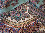 Волшебный узор 1290-3, павлопосадский платок (шаль) из уплотненной шерсти с шелковой вязанной бахромой, фото 10