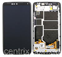 Дисплей (экран) для Motorola XT1254 Droid Turbo + тачскрин, цвет черный, с передней панелью
