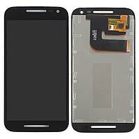 Дисплей (экран) для Motorola XT1540 Moto G3, XT1541, XT1544, XT1548, XT1550 + тачскрин, цвет черный