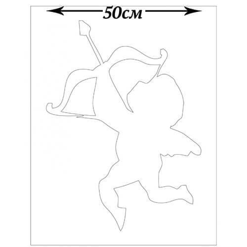 Трафарет для жидких обоев Ангелочек 50 см