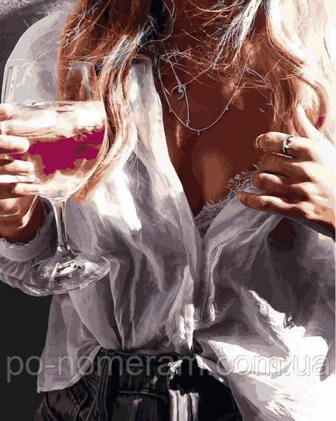 Картина Babylon девушка с бокалом вина купить в Киеве