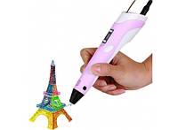3D ручка c LCD дисплеем 3D Pen-2 Розовая