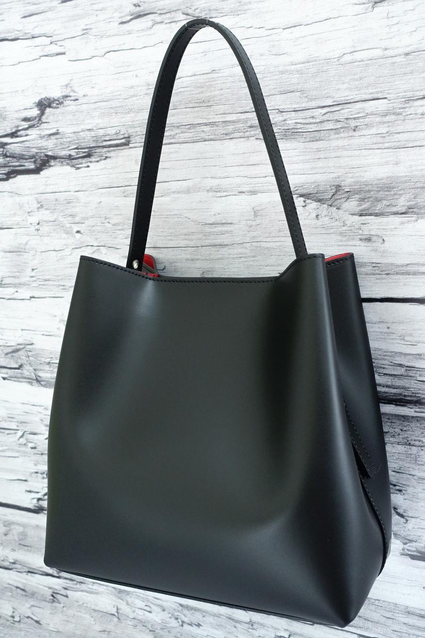 Женская сумка из натуральной кожи Borse in Pelle 6233 black, Италия