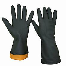 Перчатки для работы с химией, латексные, плотные, SUN, размер L