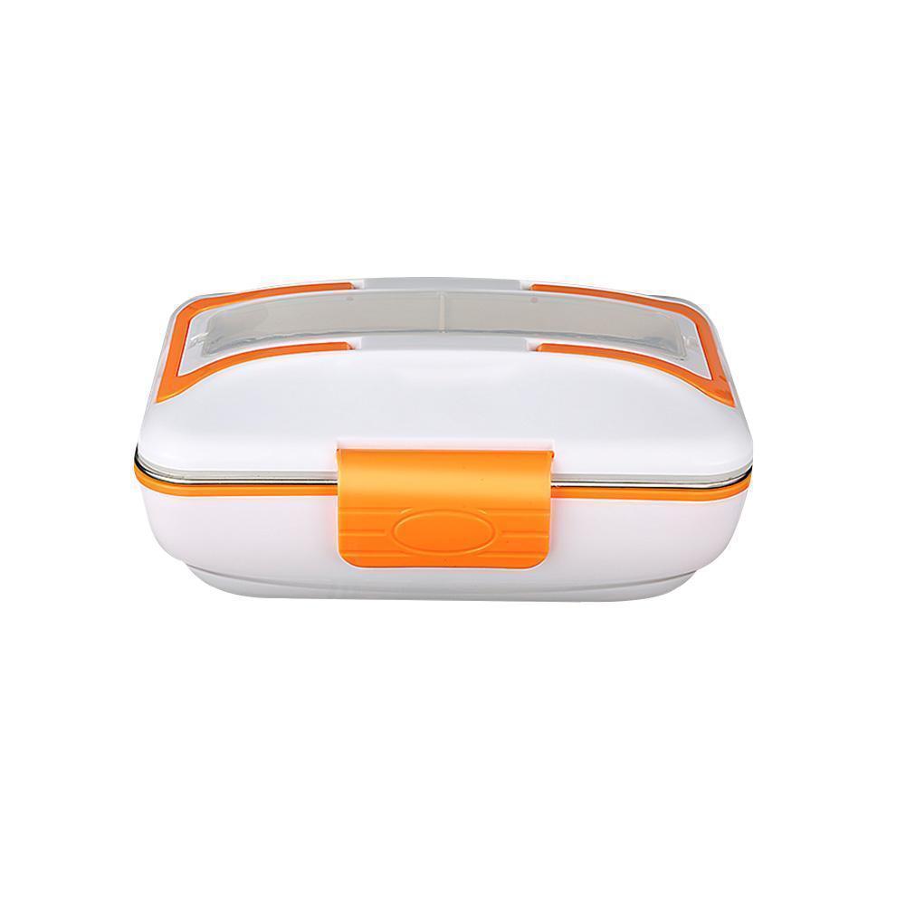 Электрический ланч бокс с подогревом 2-в-1 12/220В Electric Lunch Box с металлической съемной чашей Оранжевый