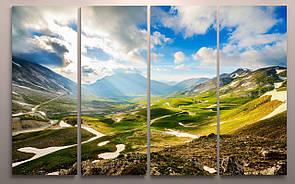 Модульная картина пейзаж 120х60