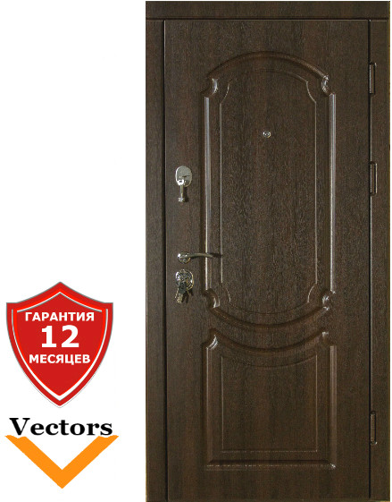 Very Dveri Классика темный орех (серия «ВИП+») Двери входные